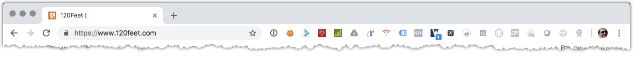 image of my browser bar